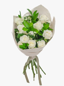 Bouquets: Lovely White Rose Bouquet